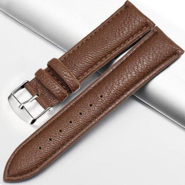 柔軟通用皮帶表帶男表鏈女表帶配件20mm代用天梭卡西歐浪琴DW天王 茱莉亞嚴選