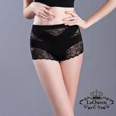 La Queen V型加壓平腹高腰蠶輕塑褲(7321 黑)