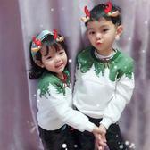 創意圣誕親子裝秋冬裝2018新款潮一家三口母女母子全家裝加絨大學T第七公社
