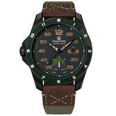 elegantsis / ELJX65AS-9G02LC / 預購8折 陸軍特戰限量款 機械錶 義大利皮革帆布錶帶 黑x墨綠 47.5mm