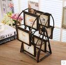 歐式復古旋轉大風車家居擺件創意摩天輪相框影樓擺臺結婚禮物飾品(5寸)