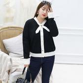 中大尺碼~簡約針織衫長袖上衣(XL~3XL)