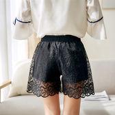 新款蕾絲花邊短褲 夏季薄款防走光外穿女寬鬆涼感 LR2911【Pink中大尺碼】