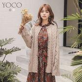 東京著衣【YOCO】慵懶美人針織毛衣外套(172136)