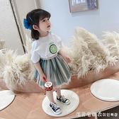 女童夏裝網紅套裝2021年夏新款兒童夏季洋氣小童女寶寶夏天兩件套 美眉新品