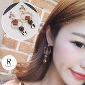 微涼咖啡經典焦糖設計耳環-44