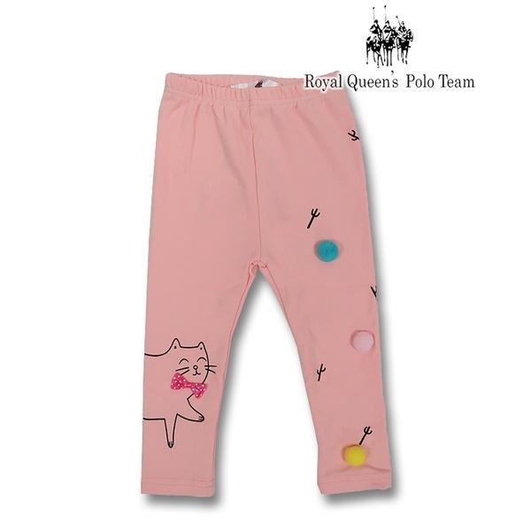 小女童粉色貓咪圖案內搭褲 [15181] RQ POLO 秋冬童裝