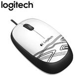 Logitech 羅技 M105 有線光學滑鼠 白
