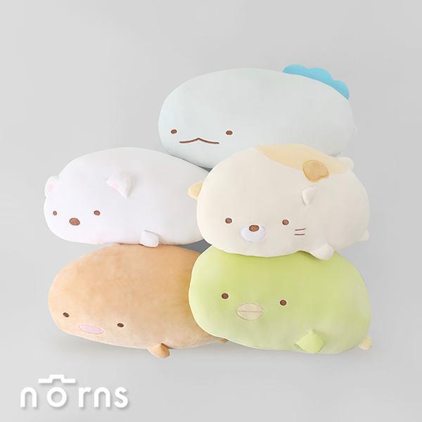 【角落生物側身趴姿扁枕9吋】Norns 正版 午睡枕 抱枕 靠枕 靠墊 娃娃 玩偶