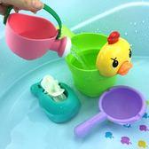 兒童軟膠洗澡玩具戲水車男孩女孩小黃鴨嬰幼兒寶寶灑水壺套裝沙灘歐歐流行館