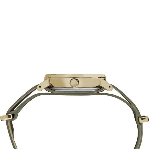 【TIMEX】天美時週末Fairfield系列時尚女錶 (米色/綠 TXT2P98500)