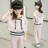 女童套裝新款時髦洋氣12歲中大兒童韓國女孩春三件套