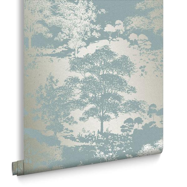 淺藍色 森林紋  Graham & Brown /Meadow Dusk 105228