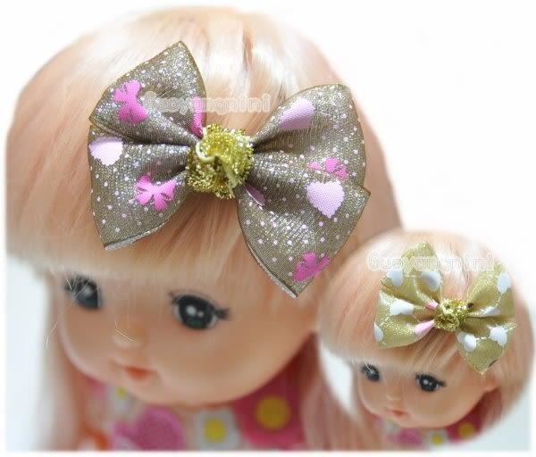 Guoyangnini手工髮飾 氣質蝴蝶結/寶寶髮夾/親子.公主 兒童髮飾/瀏海夾/雙刀夾【H7803】