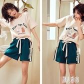短袖睡衣女夏季純棉韓版學生薄款女士可愛夏天家居服兩件套裝 DJ11919『麗人雅苑』