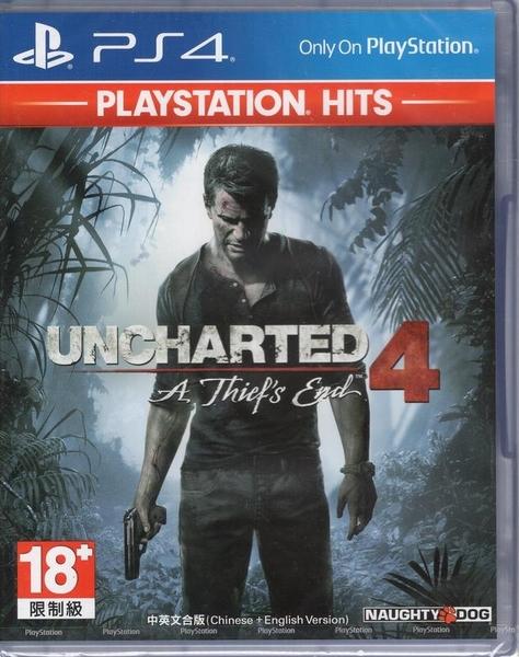 現貨中 PS4遊戲PlayStation Hits 秘境探險 4 盜賊末路 Uncharted 4 中文亞版【玩樂小熊】