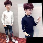男童長袖t恤童裝上衣男孩打底衫中大童兒童體恤 伊衫風尚