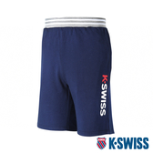 【超取】K-SWISS Contrast Waist Band Sweat Shorts棉質短褲-男-藍