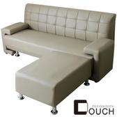 【COUCH】日式簡約L型沙發組(四色可選)咖啡色