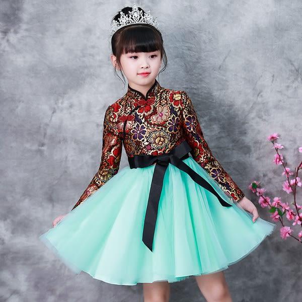 洋裝 連身裙  女童連衣裙2018秋裝新款冬裝洋氣兒童裝裙子公主裙加絨女寶寶女孩 女童裝2-8歲
