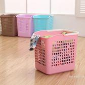 空衣物藍洗衣籃家用衛生間衣服框收納欄臟衣籃衣服婁加厚塑料鏤 優惠倆天-【店慶八五折促銷】