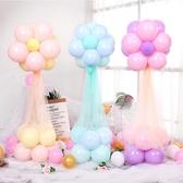 婚禮婚房立柱網紗氣球路引迎賓場景裝飾浪漫生日派對結婚布置