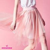 【SHOWCASE】浪漫韓版不規則多層襬網紗裙(粉)