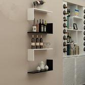 墻壁擱板壁掛創意墻上置物背景墻裝飾壁櫃WZ433 【極致男人】TW