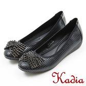 ★2018 春夏新品★本週下殺kadia.典雅造型蝴蝶結鑽飾包鞋(8002-98黑色)