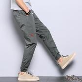 潮流哈倫束腳褲 九分褲男士夏季薄款哈倫褲修身小腳寬鬆工裝休閒褲縮腿 JX1562『Bad boy時尚』