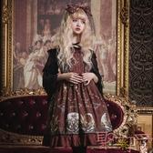 Lolita洋裝連身裙宮廷風復古暗黑系jsk洛麗塔裙【聚可愛】