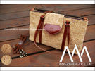 【配件王】現貨 泰國包 Mazmoizelle 軟木塞 側背包 肩背包 包包 兩款 彩色碎片 文青風 復古包