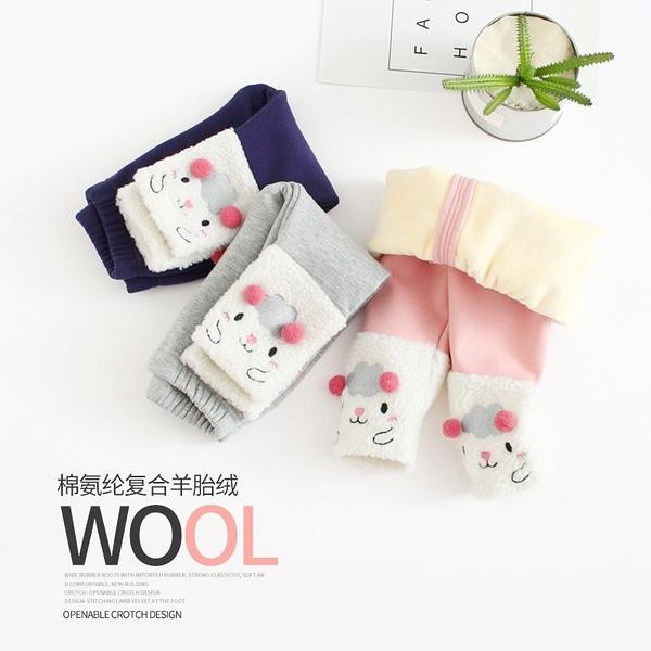 寶寶加絨加厚綿羊造型棉褲 童裝 兒童保暖褲【ZGB003】
