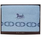 CELINE經典馬車LOGO保暖大羊毛毯禮盒(藍色)084110-1