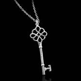 925純銀項鍊-獨特精緻流行歐美鑰匙風格生日情人節禮物女吊墜73ad18【巴黎精品】