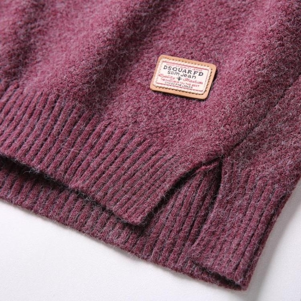 毛衣秋冬新款圓領長袖針織打底衫女士加絨加厚短款套頭開叉毛衣潮 新年禮物