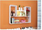 創意墻上置物架免打孔壁掛墻架壁柜墻壁墻面臥室隔板書架現代簡約YYJ  夢想生活家