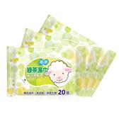 海淨 綠茶濕紙巾20抽x4包入 奈森克林工廠製造