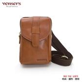 【南紡購物中心】【vensers】小牛皮潮流個性腰包(NE057101黃油皮)