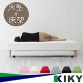 收納附輪親子床墊組(床墊+床架一次買齊)粉綠
