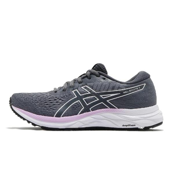 Asics 慢跑鞋 Gel-Excite 7 灰 紫 女鞋 避震 緩衝 運動鞋 【ACS】 1012A562023