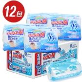 日本大王 GOO.N 濕紙巾 70抽x12包 3544 嬰兒純水濕巾 箱購