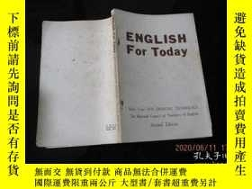 二手書博民逛書店罕見外文書 ENGLISH For Today(Book Three Book Four)(2冊合售) 13-6奇