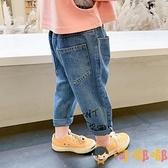 兒童長褲寬鬆寶寶洋氣春秋韓版牛仔褲百搭【淘嘟嘟】