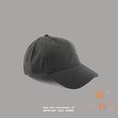 棒球帽男秋冬防曬遮陽帽鴨舌帽休閒軟頂純色帽子【橘社小鎮】