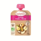 BABYBIO 有機蘋果洋梨纖果泥90g-法國原裝進口6個月以上嬰幼兒專屬副食品