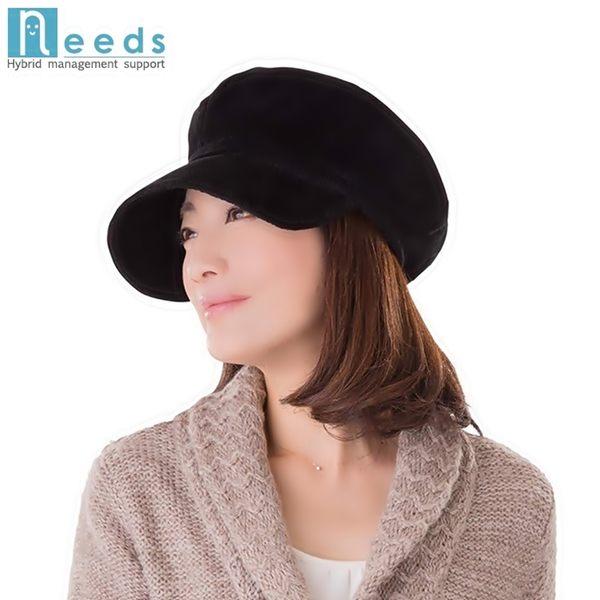 耀您館★日本NEEDS吸濕發熱護耳帽短帽簷貝雷帽HOT αあったかキャスケット平頂帽軟帽貝蕾帽保暖