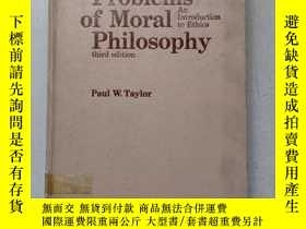 二手書博民逛書店Problems罕見of Moral Philosophy An Introduction to Ethics T