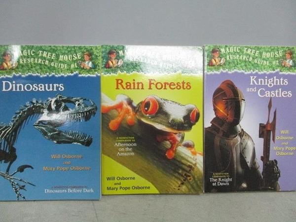 【書寶二手書T5/原文小說_MOW】神奇樹屋-Dinosaurs_Rain Forests等_共3本合售