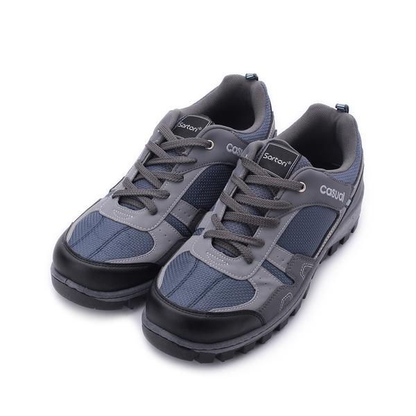 SARTORI 網布綁帶休閒鞋 灰藍 男鞋